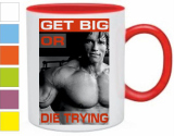 Кружка Get big or die trying