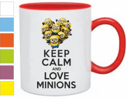 Кружка Keep calm and love minions