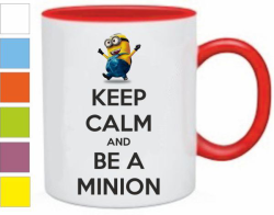 Кружка Keep calm and be a minion