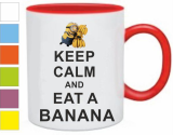 Кружка Keep calm and eat a banana