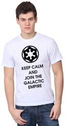 Футболка мужская Keep calm and join the galactic empire