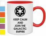 Кружка Keep calm and join the galactic empire