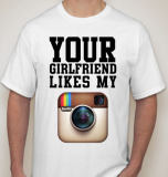 Футболка мужская Your girlfriend like my Instagram