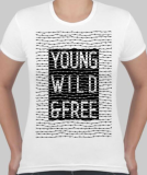 Футболка женская Young wild and free