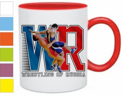 Кружка Wrestling of Russia, красная