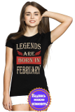 Футболка женская Legends are born in february