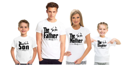 Футболки для семьи на четверых The son, the father, the mather, the daughter