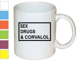 Кружка Sex drugs & corvalol